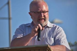 Andreas Hänjes, SPD-Kreistagsfraktionssprecher bei seinem nachdenklich machenden Gedicht
